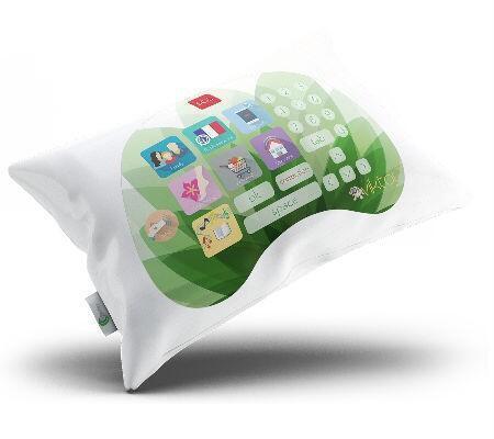 Подушка Viktor работает в режиме 3-4G и посылает изображение на экран телевизора.