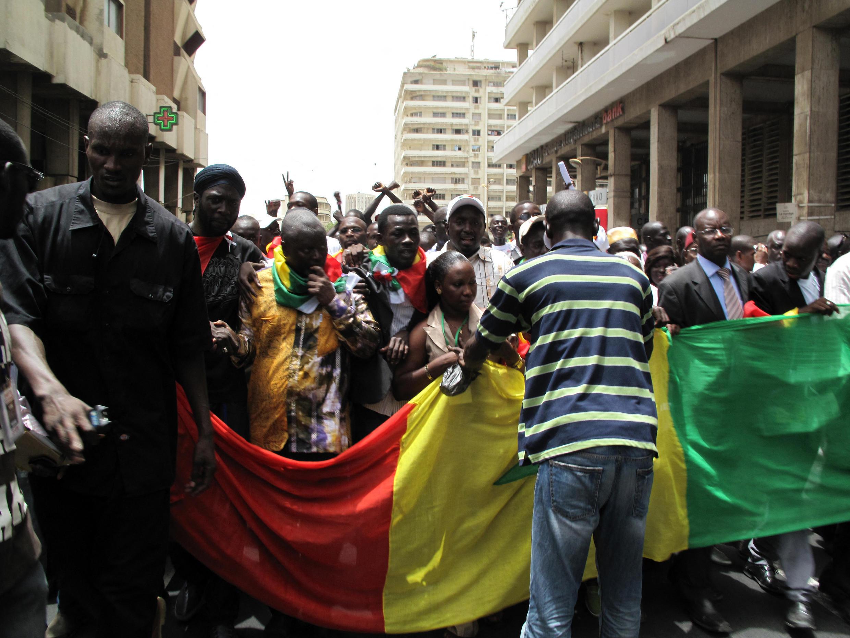 L'héritage du mouvement M23 au Sénégal reste disputé, 10 ans après. Ici, une manifestation marquait le premier anniversaire du mouvement à Dakar, le 23 juin 2012.