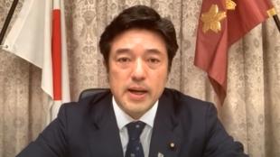 日本防卫副大臣中山泰秀资料图片