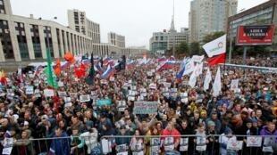 По данным «Белого счетчика», на акции на проспекте Сахарова присутствовали около 50 тысяч человек.