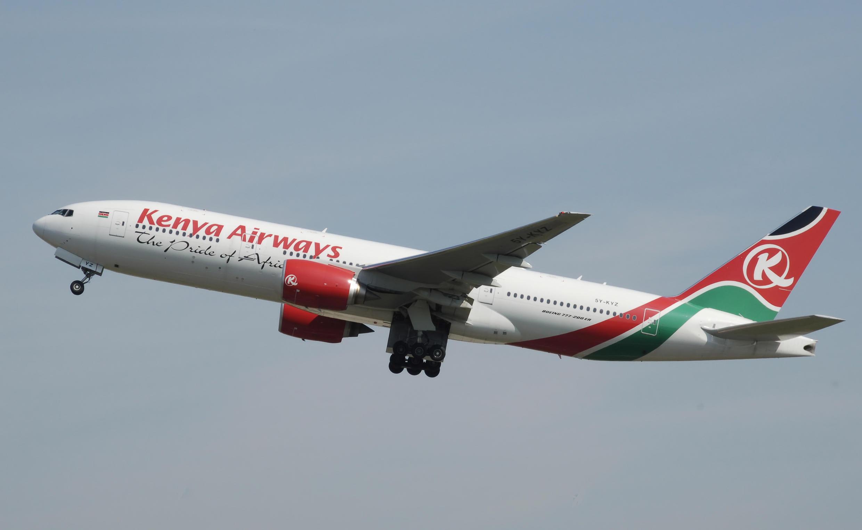 Un avion de la flotte de Kenya Airways.