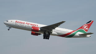 Ndege ya shirika la ndege la Kenya Airways.