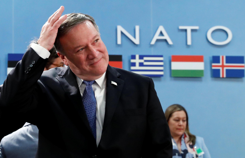 Tân ngoại trưởng Mỹ Mike Pompeo tham gia hội nghị ngoại trưởng NATO tại trụ sở của khối ở Brussels, Bỉ, 27/04/2018.