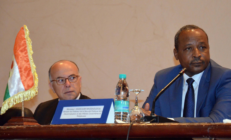 Hassoumi Massaoudou, ministre de l'Intérieur du Niger, le 14 mai 2015 à Niamey.