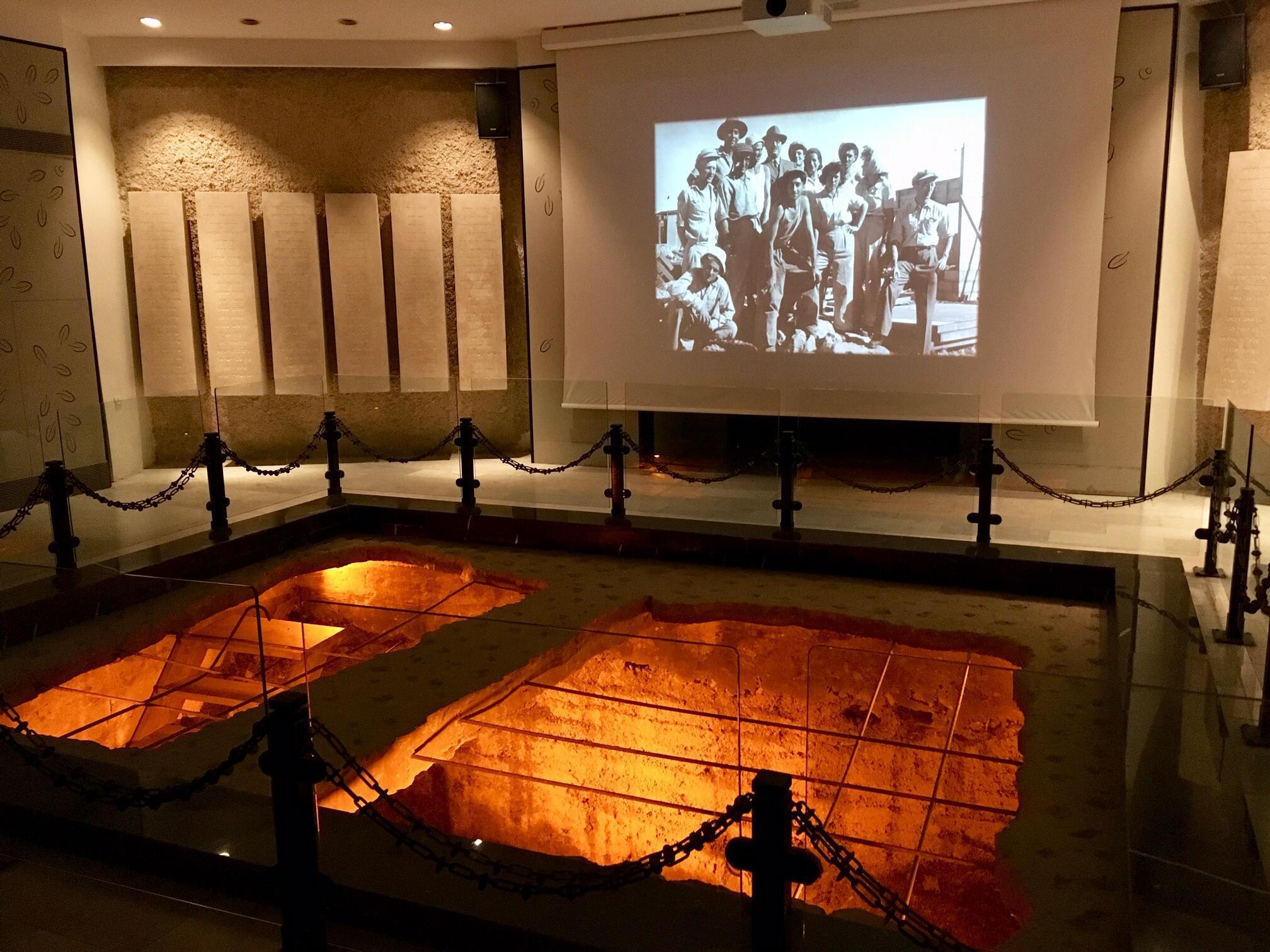 Dans le kibboutz de Kfar Etzion, un musée retrace l'histoire des communautés juives sur place de 1927 à 1948.