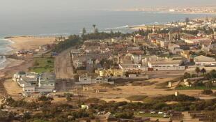Une vue aérienne de la ville de Swakopmund en Namibie (photo d'illustration).