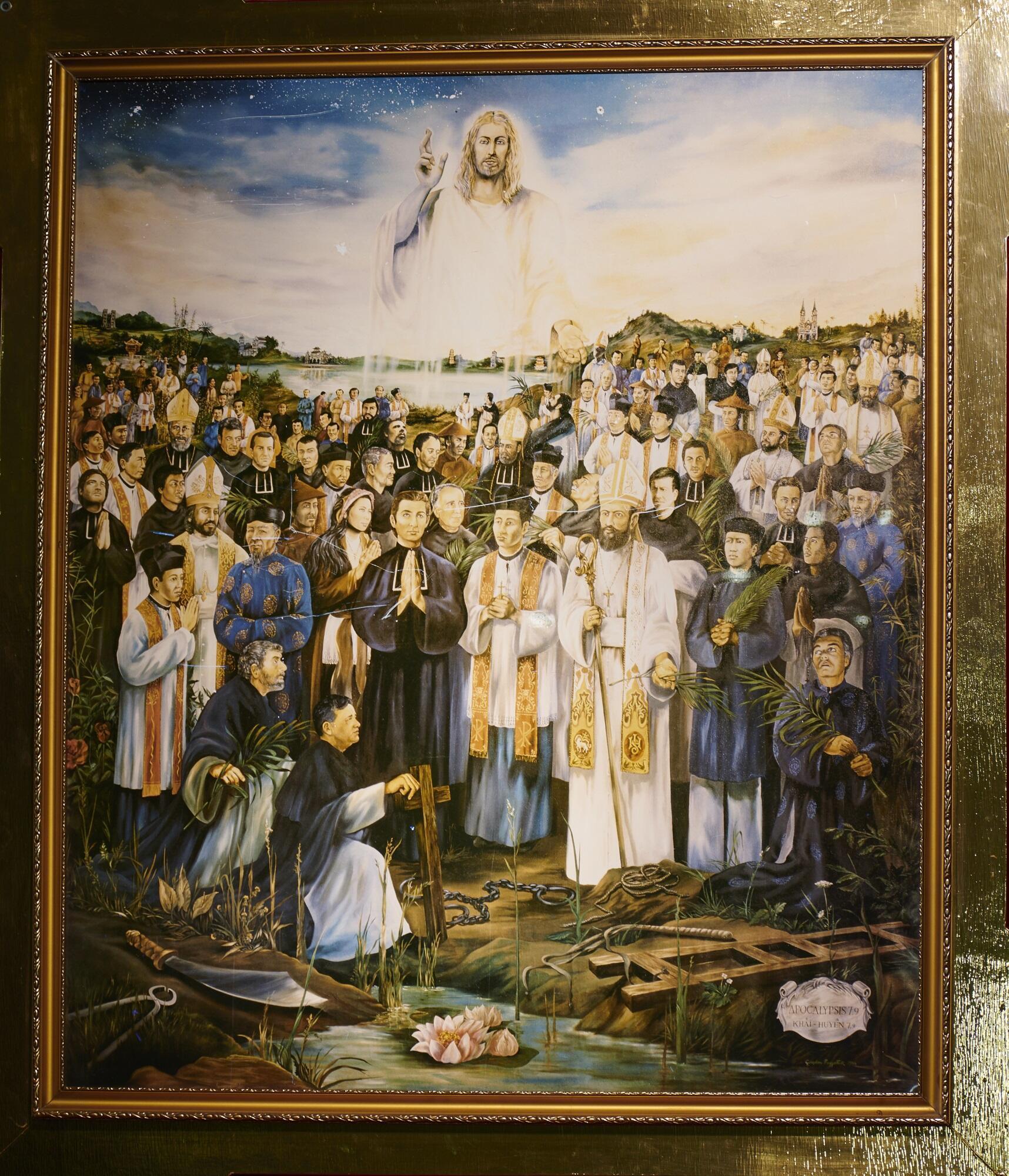 Ảnh chụp bức tranh 117 thánh tử đạo Việt Nam.