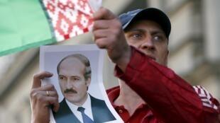 Portrait of Belarussian President Alexander Lukashenko
