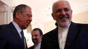 Ngoại trưởng Nga Sergei Lavrov (t) và ngoại trưởng Iran Mohammad Javad Zarif gặp nhau tại Mátxcơva (Nga) ngày 14/05/2018.
