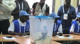 Commission nationale électorale (CNE) lors des élections législatives de ce mois d'août 2017.