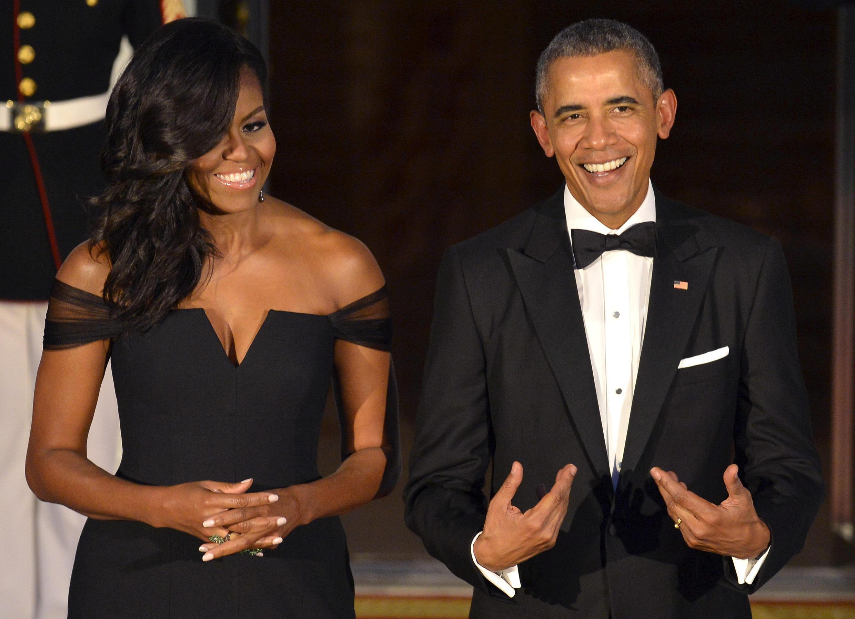 Barack Obama e sua mulher Michelle já publicaram dois livros de sucesso.