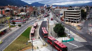 Transporte público en Bogotá, Colombia.