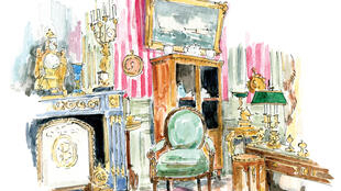 Musée Nissim de Camondo illustration by Emma Jacobs for the book The Little(r) Museums of Paris