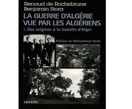 page de garde du livre, «La Guerre d'Algérie vue par les Algériens ».