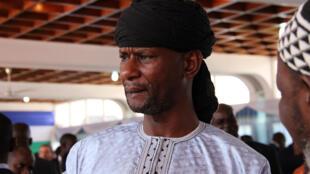 Sidiki Abass, le leader du groupe 3R, lors d'une réunion anniversaire du traité de paix, le 6 février 2020 à Bangui.