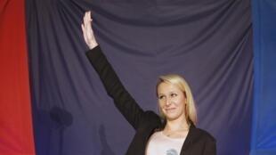 在普罗旺斯-阿尔卑斯-蔚藍海岸大区遥遥领先的国民阵线候选人、玛琳娜.勒庞的外甥女玛丽昂.马雷夏尔.勒庞