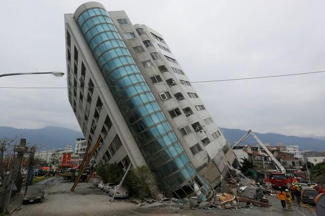 The Yun Tsui building in earthquake-hit Hualien
