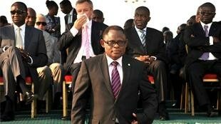 Isidore Ndaywel en 2012, Kinshasa.