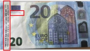 法國打擊假幣中心(OCRFM)公布的電影貨幣,2019年。