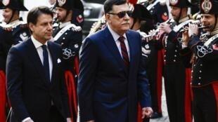 Firaministan Italiya, Giuseppe Conte da  shugaban gwamnatin Libya Fayez al-Sarraj a birnin Rome