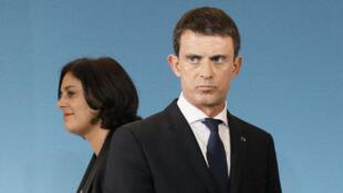法国劳动部长荷姆里和法国总理瓦尔斯
