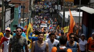 Biểu tình tại Los Teques, Venezuela ngày 28/04/2017 đòi trả tự do cho các tù nhân chính trị.