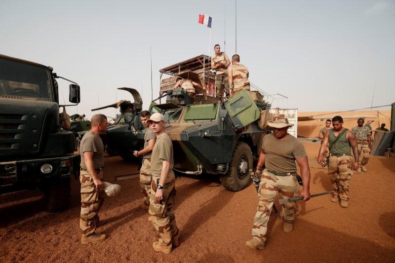 Dakarun sojin Faransa da ke cikin Rundunar Barkhane mai yaki da ta'addanci a kasashen yankin Sahel