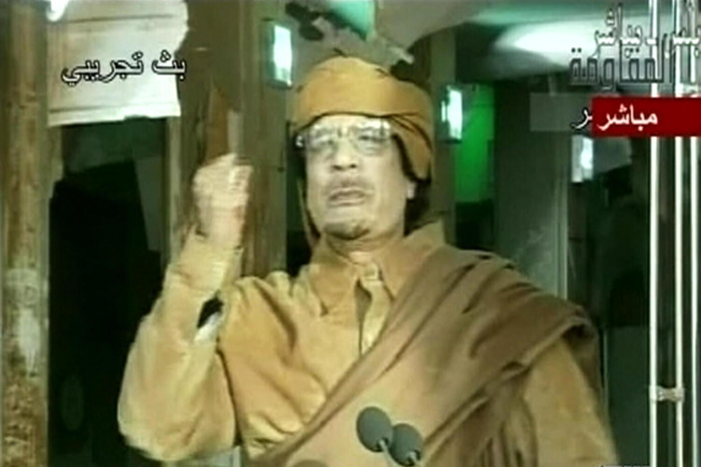 Каддафи на телеканале Аль-Аруба 01/09/2011