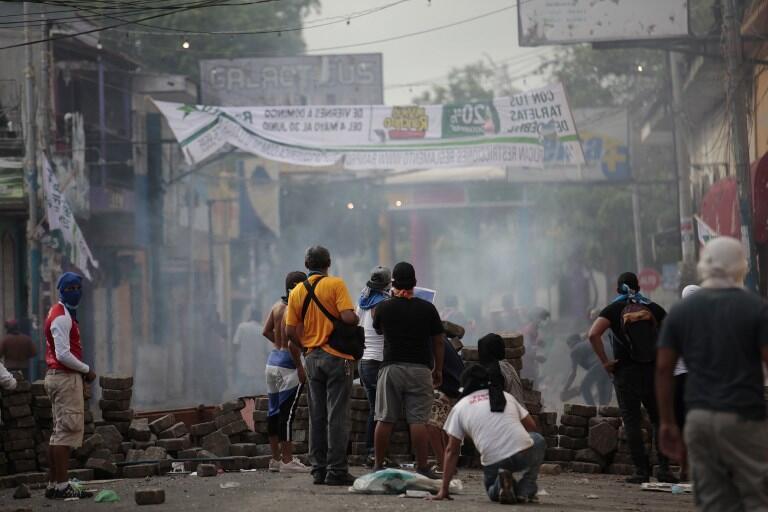 Des manifestants anti-Ortega dans la ville de Masaya, au Nicaragua, le 12 mai 2018.