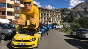 La caravane du Tour de France à Orcières-Merlette, le 1er septembre 2020.