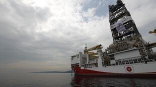 Le navire de forage turc «Yavuz» en route vers la Méditerranée, le 20 juin 2019 (illustration).