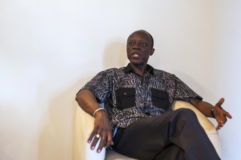 Jean-Marie Michel Mokoko lors d'une interview dans sa résidence à Brazzaville, le 19 mars 2016 (image d'illustration).