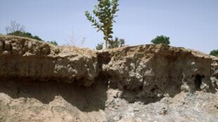 Erosion causée par la déforestation au Burkina Faso.
