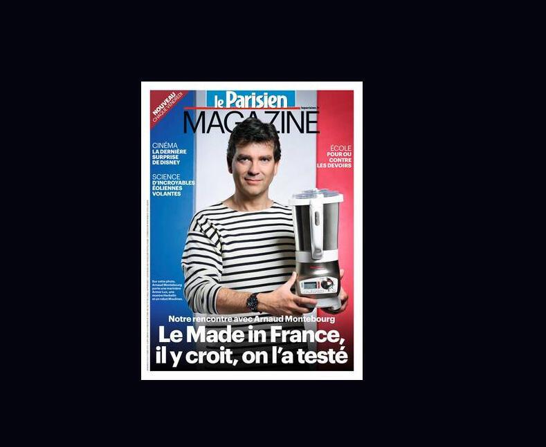 O ministro da indústria, Arnaud Montebourg, promove campanha dos produtos franceses, para estimular produção nacinal.