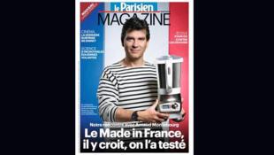 Le ministre du Redressement productif Arnaud Montebourg fait la promotion du Made in France.