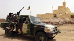 Soldats maliens à Kidal en juillet 2013