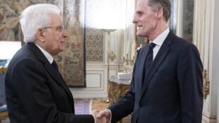 Christian Masset, ambassadeur de France en Italie, a rencontré le président italien Sergio Mattarella, le 15 février 2019.