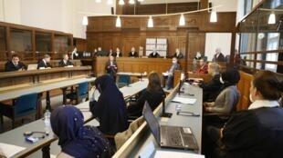 Début du procès d'un Russe pour le meurtre d'un Géorgien d'origine tchétchène à Berlin , le 7 octobre 2020.