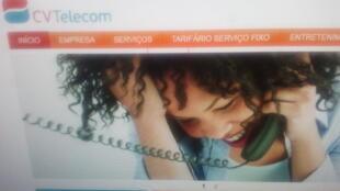 Captura de ecrã do site CV Telecom Cabo Verde, entre vendas, recompras e críticas entre MpD e PAICV