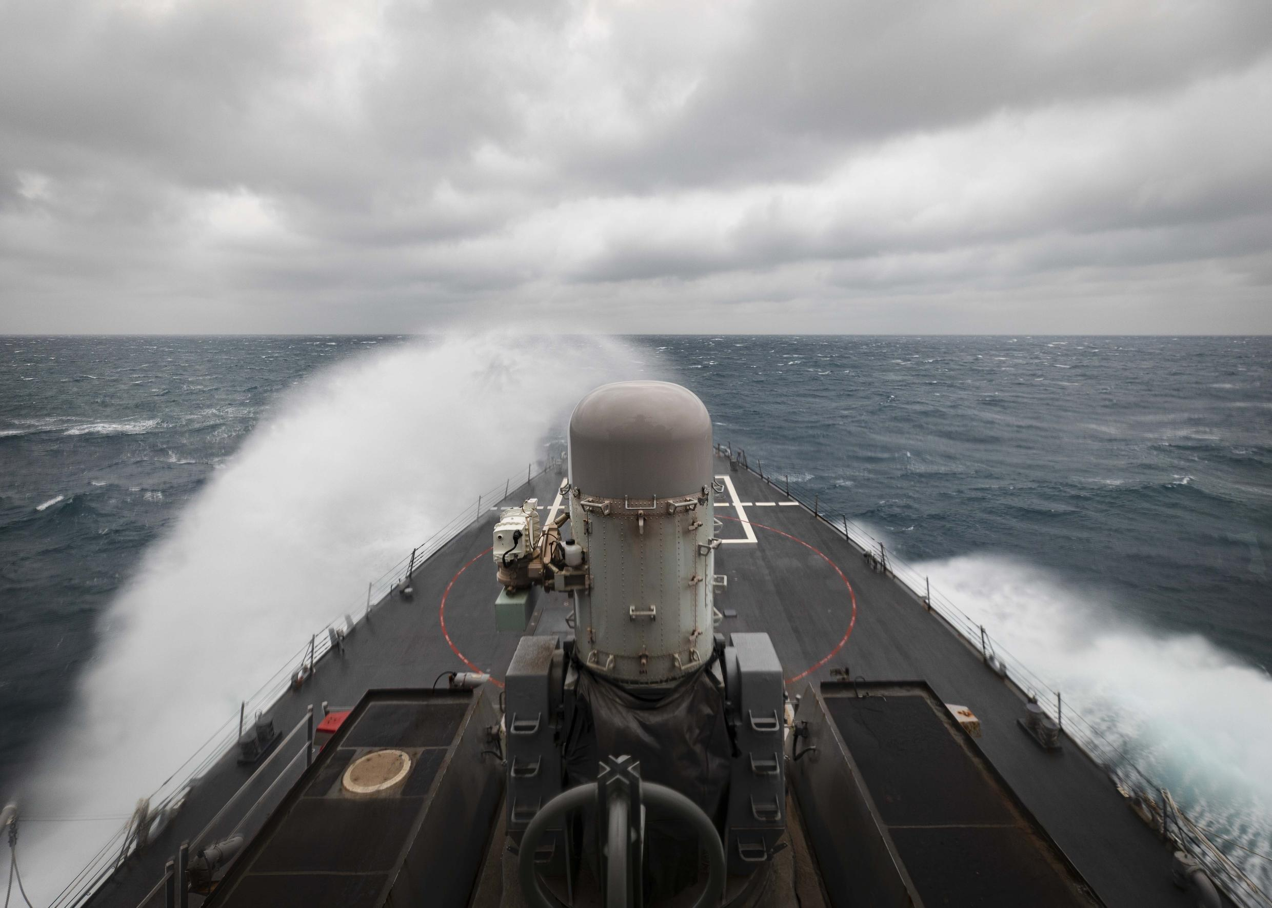 US destroyer USS John S. McCain at the Taiwan Strait, Wednesday, Dec. 30, 2020