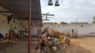 Vue de l'atelier d'Ousmane Kouyaté.