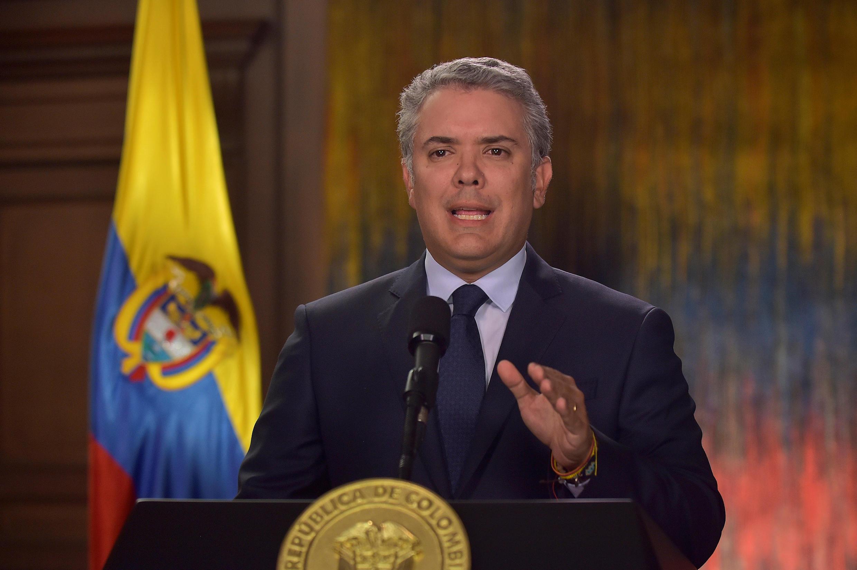 O presidente colombiano, Ivan Duque. 18/01/2019