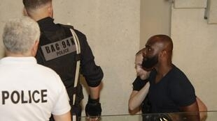 French rapper Kaaris (R) is taken to court on Friday