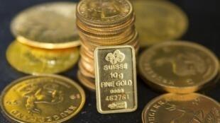 Vàng thoi trên thị trường Luân Đôn.