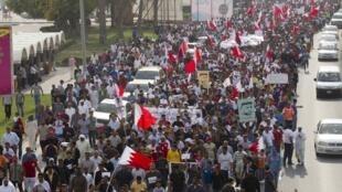 Dans les rues de Manama, samedi 26 février 2011.