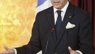 French Foreign Minister Laurent Fabius in Tripoli at the end of April