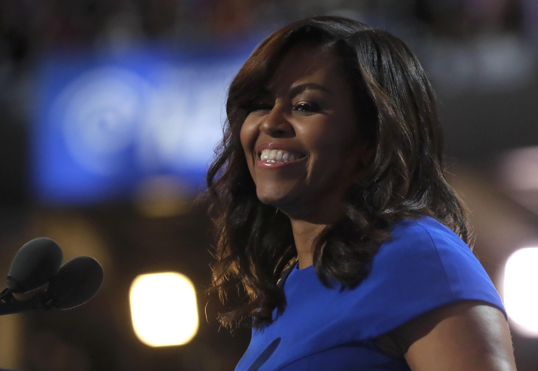 Michelle Obama, durante seu discurso na convenção democrata na Filadélfia, na segunda-feira, 25 de julho de 2016.