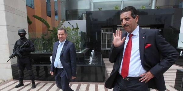عبدالحق خیام (سمت راست تصویر)، رئیس مرکز ضد تروریسم مراکش