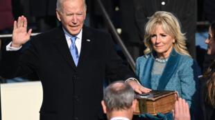 Joe Biden jura como presidente de Estados Unidos el 20 de enero de 2021 en Washington