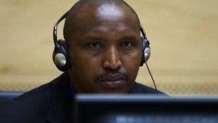 Bosco Ntaganda akiwa kwenye mahakama ya ICC mara baada ya kufikishwa mahakamani hapo kwa mara ya kwanza